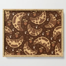 Croissant pattern Serving Tray