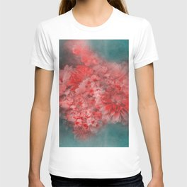 Abstract Red Flowers T-shirt