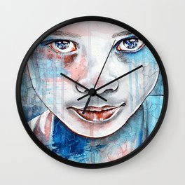 When the rain washes you clean, watercolor illustration Wall Clock