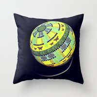globe Throw Pillows featuring Butterfly globe by LoRo  Art & Pictures
