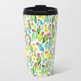 Love Birds Pattern Travel Mug