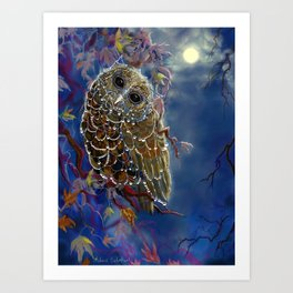 Web Wardrobe FOr Owl Parties Art Print