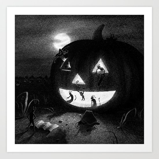 Drawlloween 2013: Pumpkin Art Print