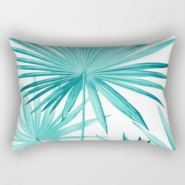 Fan Palm Leaves Jungle #3 #tropical #decor #art #society6 Rectangular Pillow