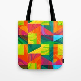 Funky geometric pattern Tote Bag