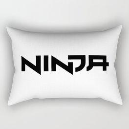 Ninja Font Rectangular Pillow