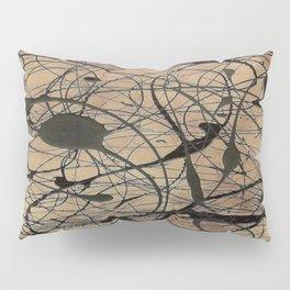 Pollock Inspired Cool Abstract Splatter Drip Art Painting - Corbin Henry Pillow Sham