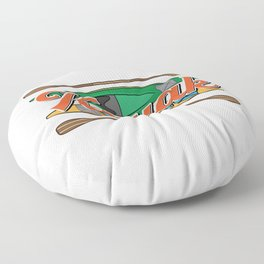 Kayaking Gift Design Outdoors Kayak And Paddles Product Floor Pillow