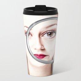 magnifying girl Metal Travel Mug