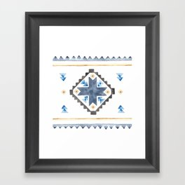 Tribal Watercolor Framed Art Print