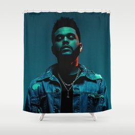 Portrait of the.Weeknd Shower Curtain