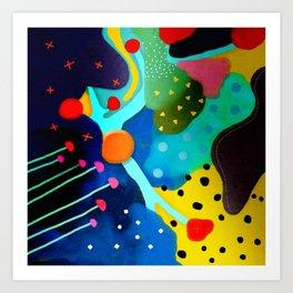 Abstract Art - Lagoon mushrooms rupydetequila amazonia dots cheetah Art Print