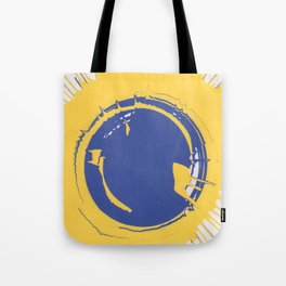 Blue and Yellow Splatter Tote Bag