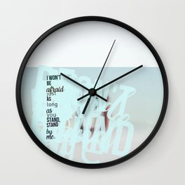 Words ~ Lyrics ~ Stand by Me Wall Clock