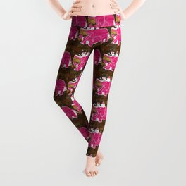 Tattered Pink Elephant Leggings