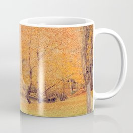 Autumn Landscape -- Trees By The River Coffee Mug