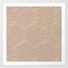 Leather Look Petal Pattern - Pale Dogwood Color Art Print