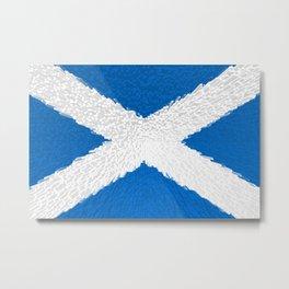 Extruded flag of Scotland Metal Print