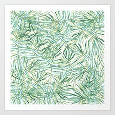 Tropical Leaves Watercolor Art Print