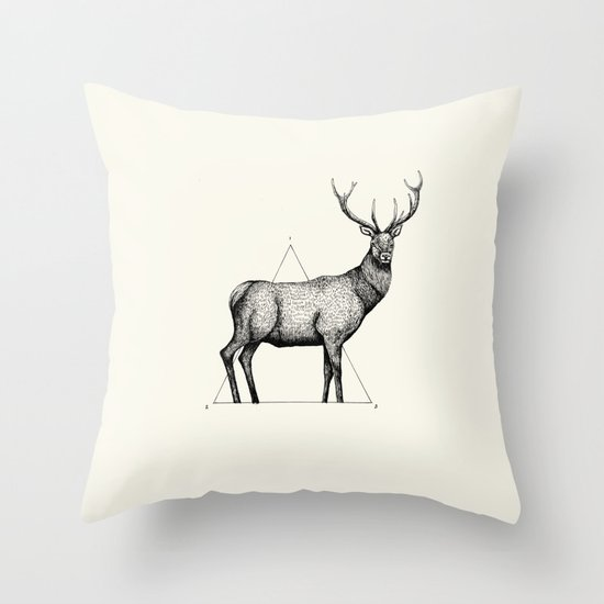 'Wildlife Analysis II' Throw Pillow