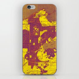 Madison West Wisconsin vintage map year 1959, rustic map, poster map iPhone Skin