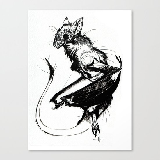 The Dragonbat Canvas Print