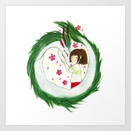 Watercolor Spirited Away - The Love Gathering Art Print