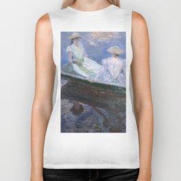 1887-Claude Monet-On the Boat-133 x 145 Biker Tank