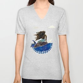 Lady of the Atlantic Crossing Unisex V-Neck
