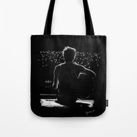 niall Tote Bags featuring TMH Niall by Cyrilliart
