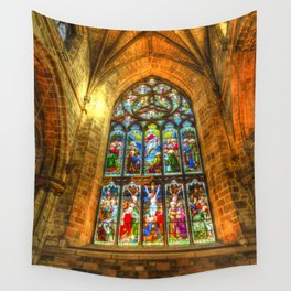 Cathedral Stained Glass Window Wall Tapestry