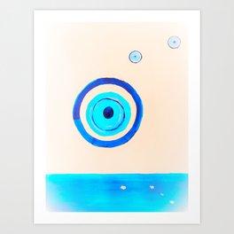the ocean eye  2 Art Print