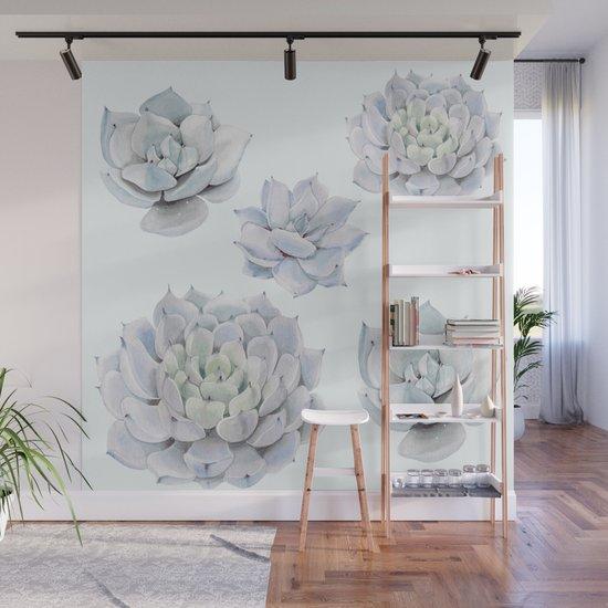 Blue Succulents by lavieclaire