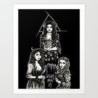 Witches Among Us (black) Art Print