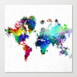 Painted World Canvas Print