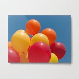 Sunlit Balloons Metal Print
