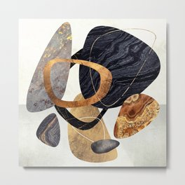 Abstract Pebbles III Metal Print