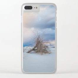 Adrift - Lone Tree In White Sands New Mexico Clear iPhone Case