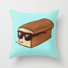 Cool Bread Throw Pillow