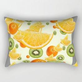ORANGES & KIWI FRUIT GREY COLLAGE Rectangular Pillow