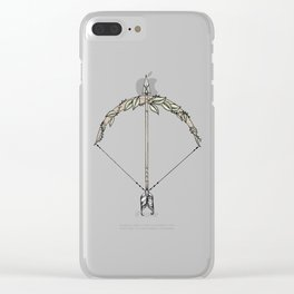 Bow and Arrow Clear iPhone Case