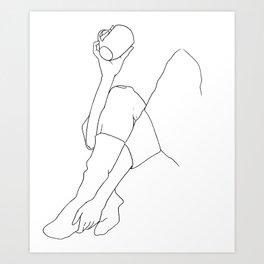 Cozy Socks and Coffee Series #2 Art Print