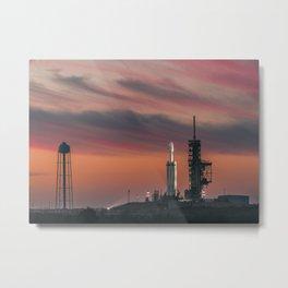 Falcon Heavy Epic Sky Metal Print