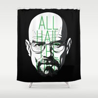 breaking bad Shower Curtains featuring breaking bad by nino benito