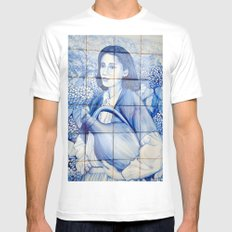 Azulejo mural White Mens Fitted Tee MEDIUM