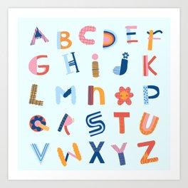 Cute Alphabet Art Print