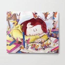 Playful fairies Metal Print