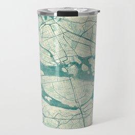 Stockholm Map Blue Vintage Travel Mug