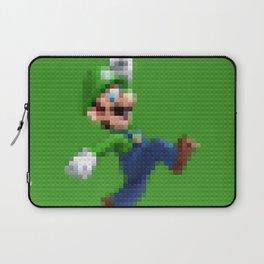 Luigi - Toy Building Bricks Laptop Sleeve