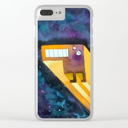 Tetris Monster Zooming Clear iPhone Case